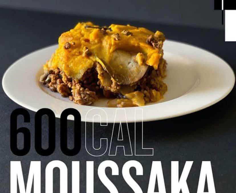 600 Calorie Lean Beef Moussaka
